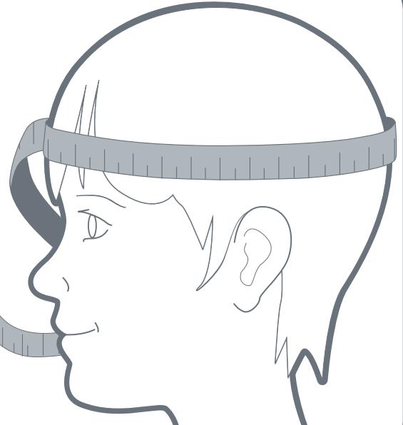 pomiar obwodu głowy