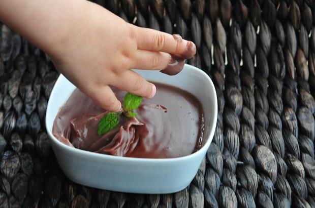 czekoladowy budyń domowej roboty dla dzieci 2