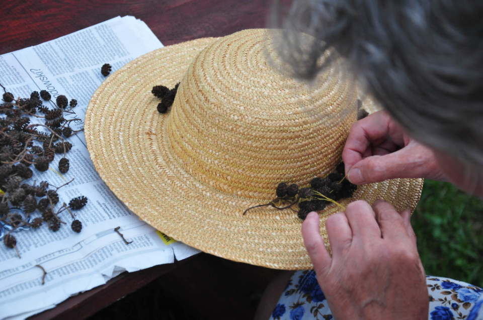 kapelusz słomkowy DIY