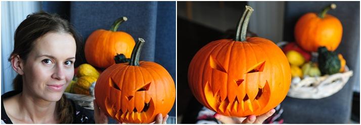 jak zrobić dynię na Halloween kolaż 3