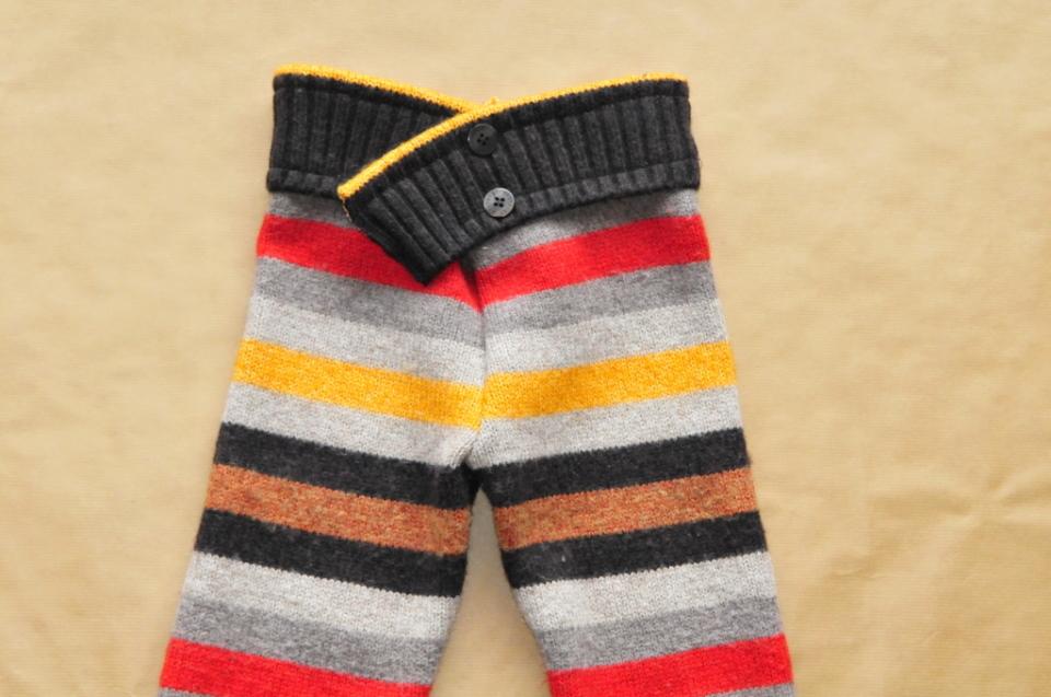 Jak ze starego swetra zrobić spodenki na zimę dla dziecka DIY (3)