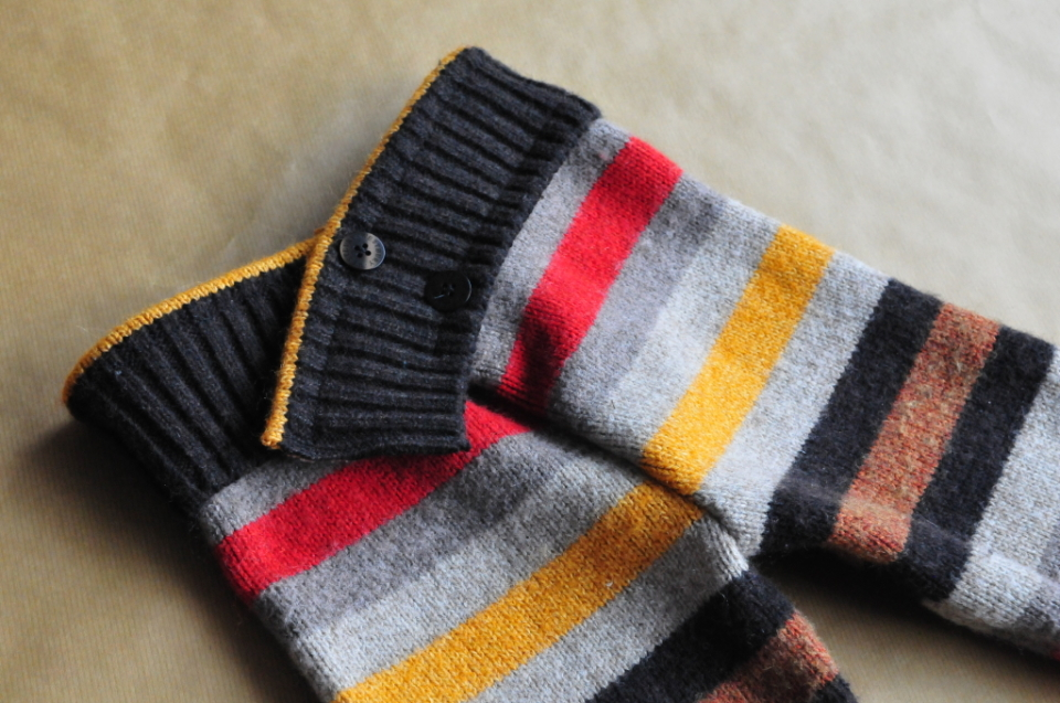 Jak ze starego swetra zrobić spodenki na zimę dla dziecka DIY (4)