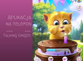 Talking Ginger aplikacja na telefon dla dzieci Szczesliva