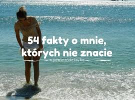 54 fakty o mnie Szczesliva