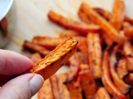 Frytki marchewkowe Frytki z marchewki Szczesliva5
