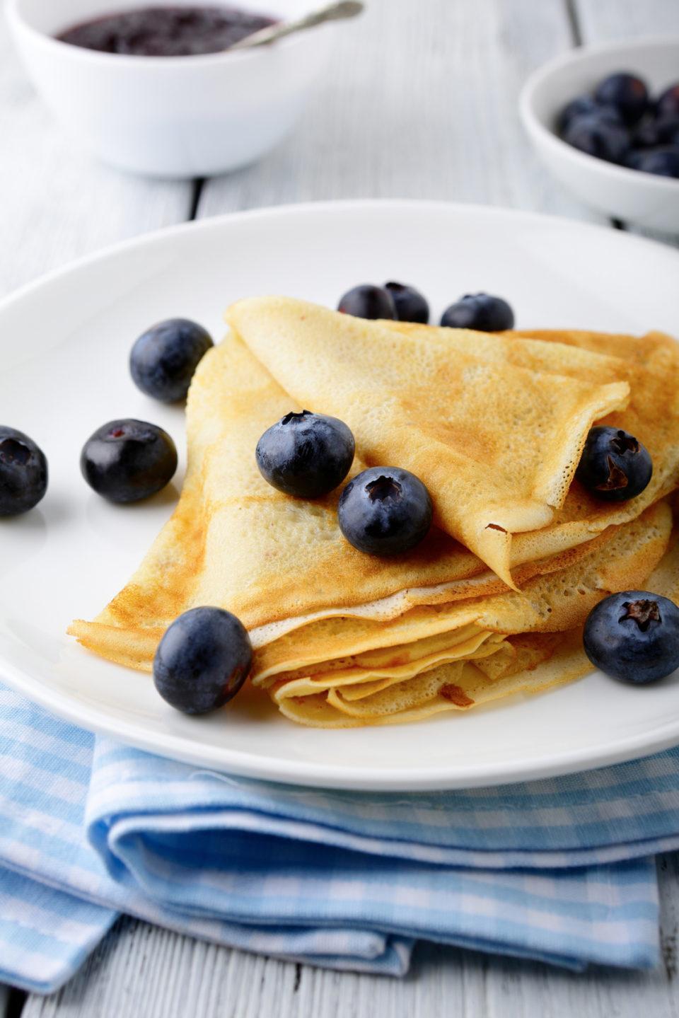 Sweet pancakes with berries. Tasty Food